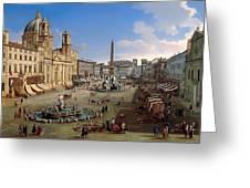 Piazza Novona - Rome Greeting Card
