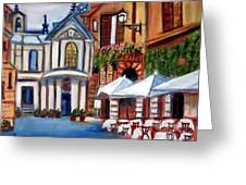 Piazza Romana Greeting Card
