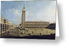 Piazza San Marco Venice  Greeting Card by Canaletto