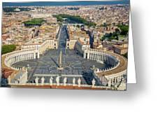 Piazza San Pietro Greeting Card