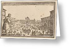 Piazza Ss. Annunziata, Florence Greeting Card