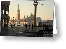 Piazzetta San Marco In Venice In The Morning Greeting Card