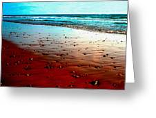 Picasso Beach Greeting Card by Jo Ann