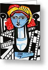 Picasso By Nora  Film Star Greeting Card