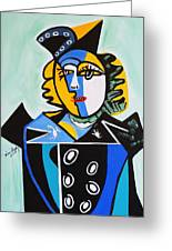 Picasso By Nora  The Queen Greeting Card