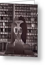 Picasso Chicago Bw Greeting Card