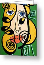 Picasso Influence Greeting Card