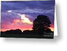 Picasso Sunset Greeting Card