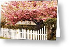 Picket Fence Charm Greeting Card