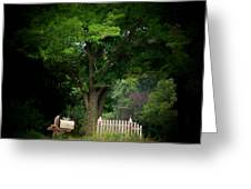 Picket Fence Mailbox Greeting Card