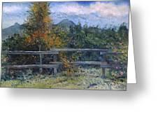 Picket Fence Near Heidelberg Western Cape South Africa Greeting Card