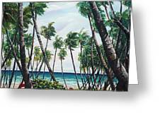 Picking Coconuts .. Mayaro Greeting Card