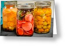 Pickled Veggies Greeting Card