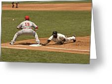 Pickoff Move To 1st Base Greeting Card