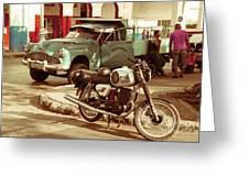 Pickup Bike  Greeting Card