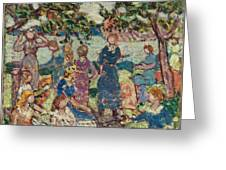 Picnic By The Inlet Greeting Card