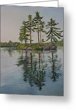 Picnic Island At Dawn Greeting Card