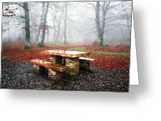 Picnic Of Fog Greeting Card