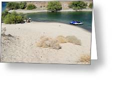 Picnic On Lake Mohave Greeting Card
