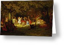 Picnic Party In The Woods Greeting Card