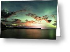 Picnic Point Aurora 180 Degree Pano, May 28, 2017 Greeting Card