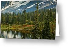 Picture Lake Vista Greeting Card