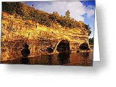 Pictured Rocks Caves Greeting Card