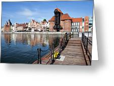 Picturesque City Of Gdansk In Poland Greeting Card