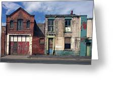 Picturesque Derelict Houses In Hull England Greeting Card