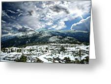 Picturesque Mountain Landscape Greeting Card
