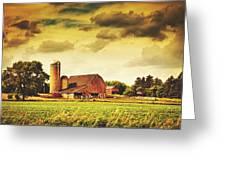 Picturesque North Dakota Farm Greeting Card