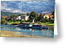 Picturesque River Cruise Greeting Card