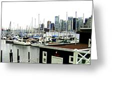 Picturesque Vancouver Harbor Greeting Card
