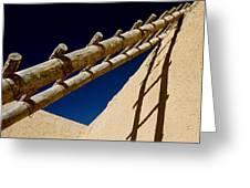 Picuris Pueblo Ladder. Greeting Card