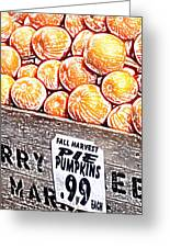 Pie Pumpkins For Sale Greeting Card