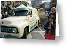 Pie Truck At The Food Festival Greeting Card by Bernadette Claffey