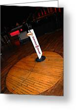 Piece Of The Original Old Stage At The Grand Ole Opry In Nashville Greeting Card by Susanne Van Hulst