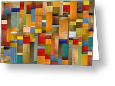 Pieces Parts Greeting Card by Michelle Calkins
