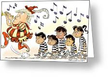 Pied Piper Trump And Infestation Greeting Card