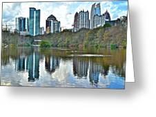 Piedmont Park Atlanta Reflection Greeting Card