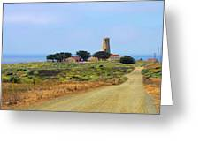 Piedras Blancas Historic Light Station - Outstanding Natural Area Central California Greeting Card