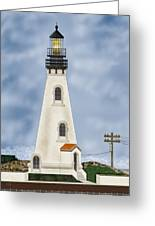Piedras Blancas Lighthouse In California Greeting Card