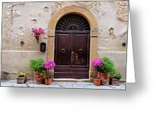 Pienza Doorway Greeting Card