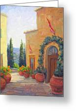 Pienza Passage Greeting Card