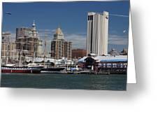 Pier 17 Nyc Greeting Card by Ken Barrett