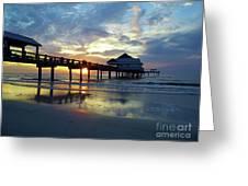 Pier 60 Sunset Greeting Card
