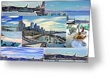 Pier 66 Collage Greeting Card