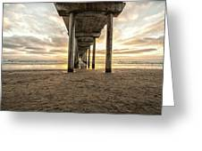 Pier And Clouds Greeting Card