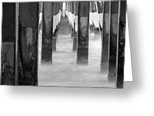 Pier At High Tide Greeting Card