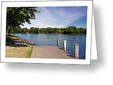 Pier At Kimberly Point Greeting Card